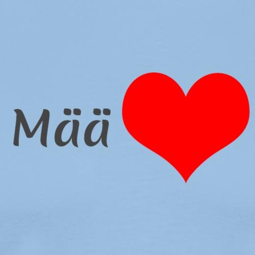 Mää sydän - Miesten premium t-paita