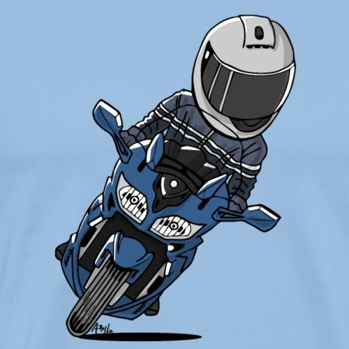 0790 FJR PhantomBlue - Mannen Premium T-shirt