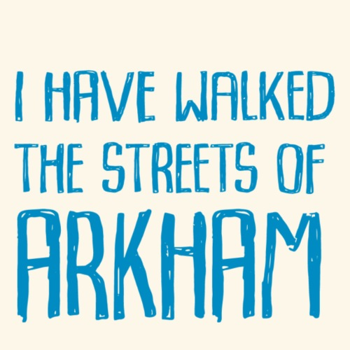 Streets of Arkham Blue - Premium-T-shirt herr