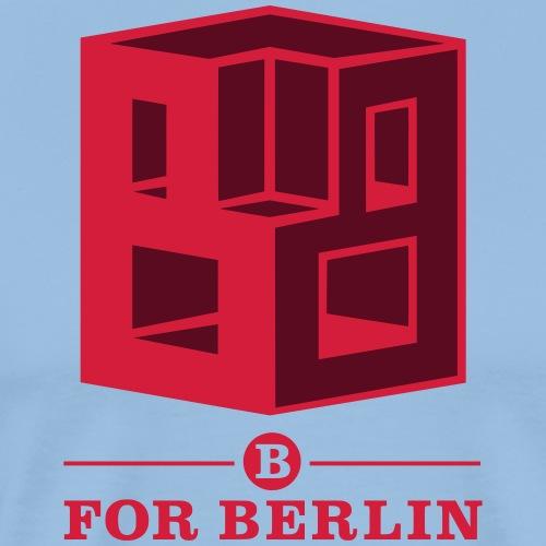 B for Berlin - Kube - Männer Premium T-Shirt