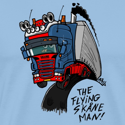 The flying skane man - Mannen Premium T-shirt
