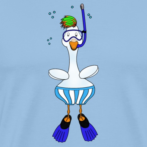 Snorkel Duck - Men's Premium T-Shirt