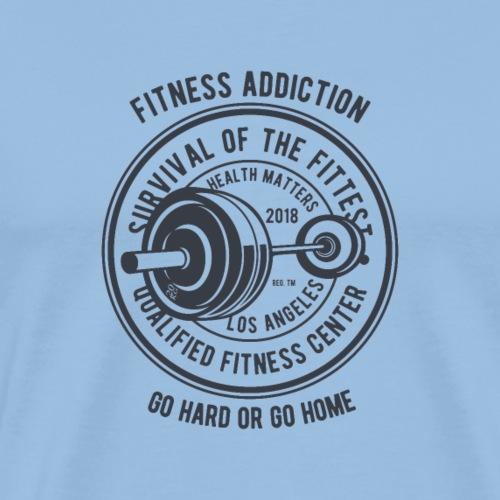 Fitness-Sucht - Männer Premium T-Shirt