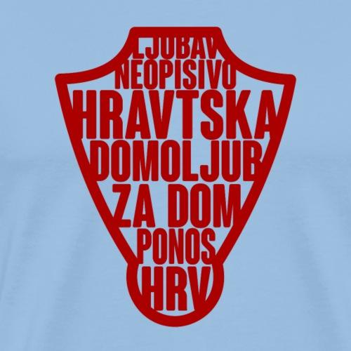 HRVATSKA Premium Designs für alle Hrvatska Fan´s - Männer Premium T-Shirt