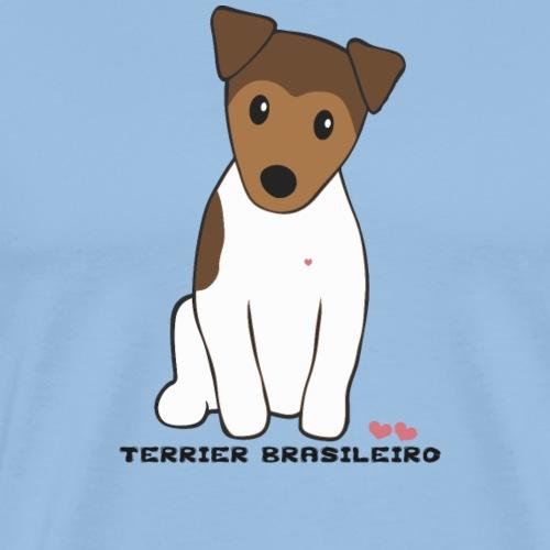 Brazilian Terrier - Premium-T-shirt herr