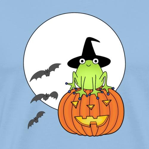 frog on pumpkin - Men's Premium T-Shirt