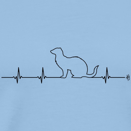 Frettchen Herzlinie EKG - Männer Premium T-Shirt