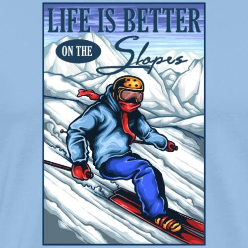 Ski Life - T-shirt Premium Homme