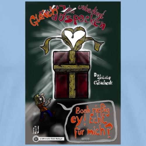 Design Das geilste Geschenk gleich auspacken - Männer Premium T-Shirt