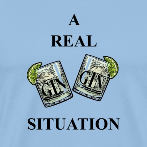 A Real Gin Gin Situation (win-win situation pun) - Männer Premium T-Shirt