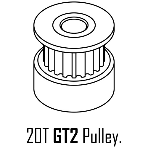 20T GT2 Pulley. - Men's Premium T-Shirt
