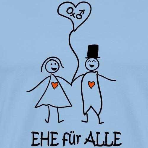 Ehe Für Alle -Frau-Mann-Paar - Männer Premium T-Shirt