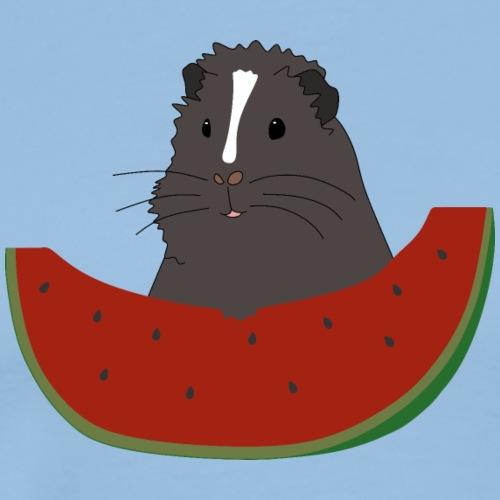 Meerschweinchen mit Melone - Geschenkidee - Männer Premium T-Shirt