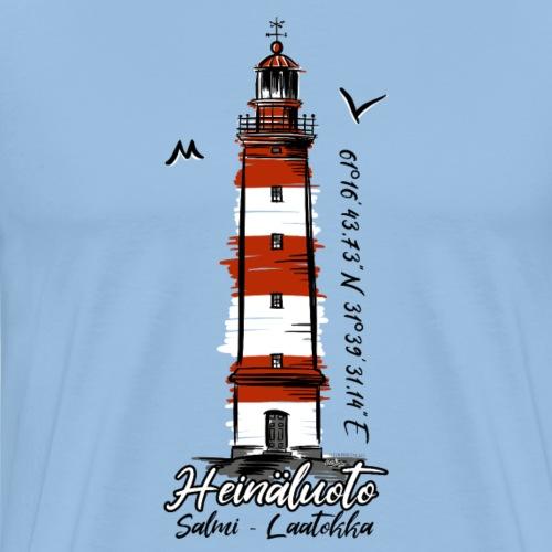 Old Finnish Lighthouse HEINÄLUOTO Textiles, Gifts - Miesten premium t-paita