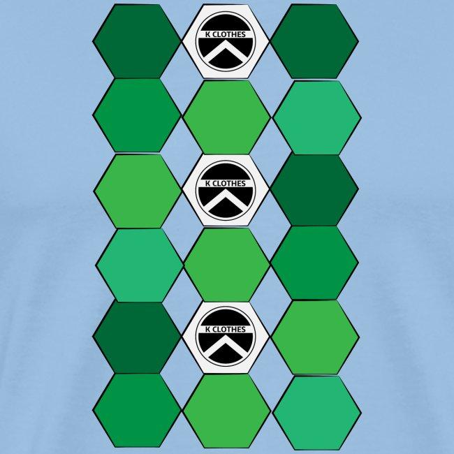 |K·CLOTHES| HEXAGON ESSENCE GREENS & WHITE