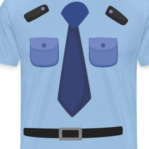 Polizei Uniform Kostüm Fasching Karneval Shirt - Männer Premium T-Shirt