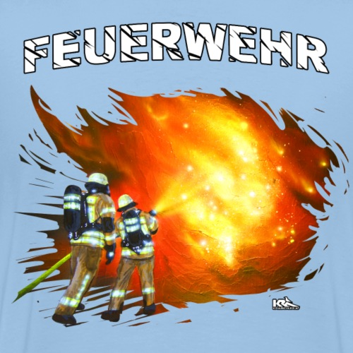 FW Männer D FEUERWEHR.png - Männer Premium T-Shirt