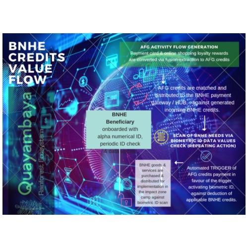 BNHE Credits generating digital value flow - Männer Premium T-Shirt