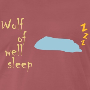 Wolf of (wall st) well sleep - Männer Premium T-Shirt