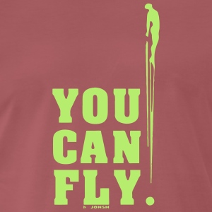 you can fly LATERAL GREEN - Camiseta premium hombre