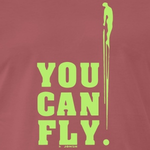 you can fly GREEN SIDE - Men's Premium T-Shirt