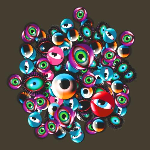 Fiesta de monstruos ojos - Camiseta premium hombre