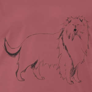 Long-haired Collie - Men's Premium T-Shirt