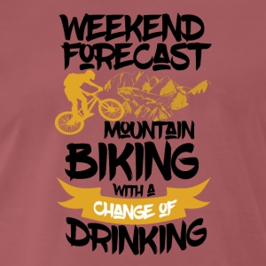 Mountainbike & Drinks ahead - Weekend Forecast - Männer Premium T-Shirt
