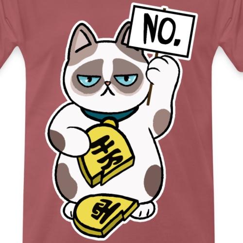 Diseño Unlucky Cat - Camiseta premium hombre