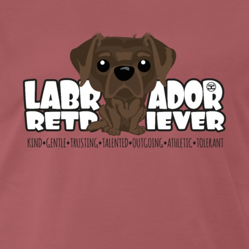 Labrador Retriever (Choco) - DGBighead - Men's Premium T-Shirt