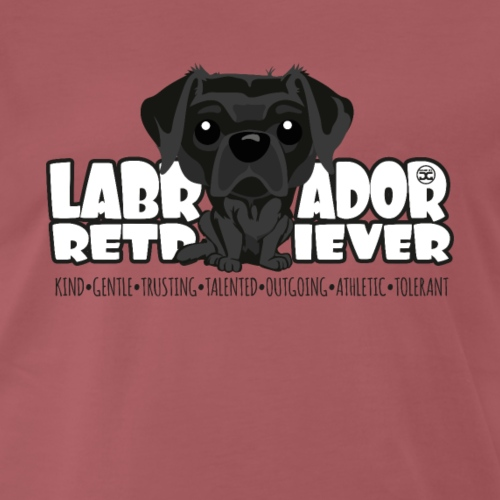 Labrador Retriever (Black) - DGBighead - Men's Premium T-Shirt