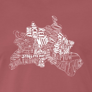 Berlin carte Districts - T-shirt Premium Homme