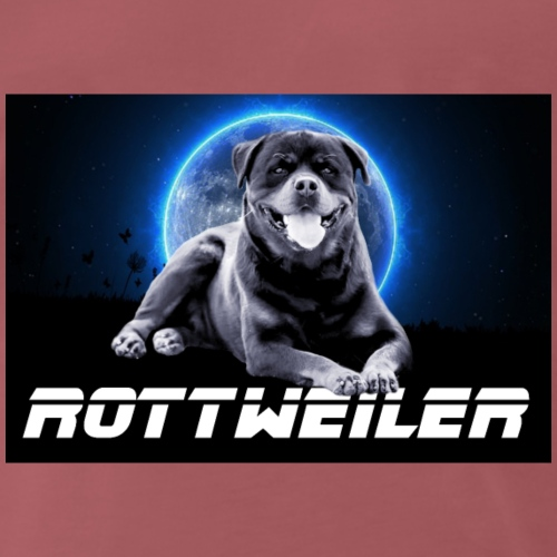Rottweiler on the Moon - T-shirt Premium Homme