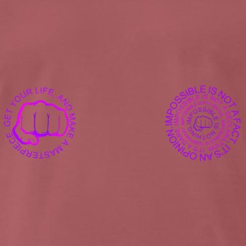 IMPOSSIBLE IS NOTHING - Tazza Bianca doppia faccia - Maglietta Premium da uomo