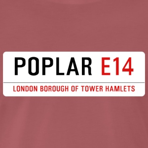 Poplar Street Sign - Men's Premium T-Shirt