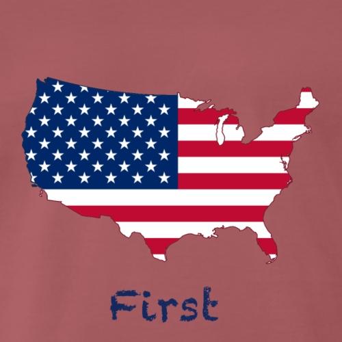 USA First. - Männer Premium T-Shirt