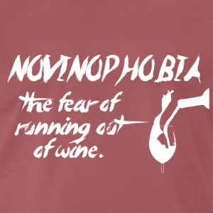 Wine: NoVinoPhobia - the fear of Wine runs out? - Men's Premium T-Shirt