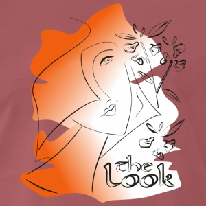 Ansikte 7 Orange (serie The Look) - Premium-T-shirt herr