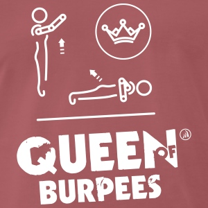 Queen of Burpees - Premium T-skjorte for menn