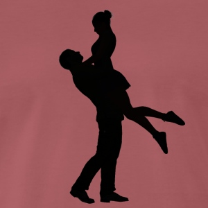 Happy couple dancing - Men's Premium T-Shirt