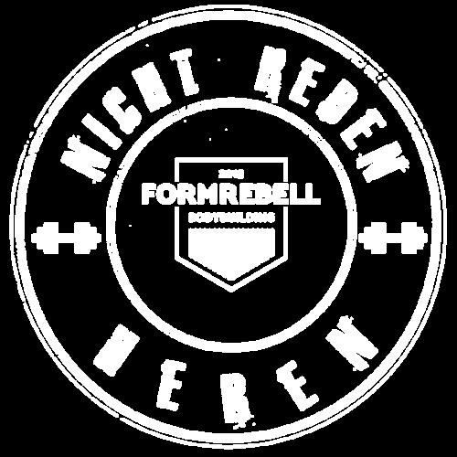 NICHT REDEN: HEBEN! (weiß/weiß) - Männer Premium T-Shirt