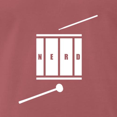 Nerd_Logo White - Herre premium T-shirt