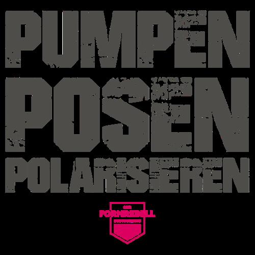 PUMPEN POSEN POLARISIEREN (anthrazit/pink) - Männer Premium T-Shirt