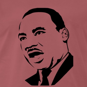 Martin Luther King stencil - Herre premium T-shirt