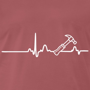 ECG HEART LINE ARTISANS white - Men's Premium T-Shirt
