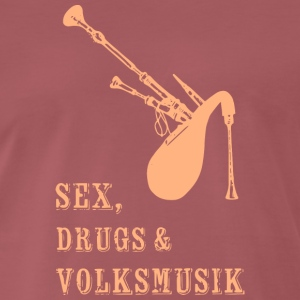 Sex; Drugs, beige - Männer Premium T-Shirt
