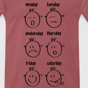 Weekdays Smilies - Men's Premium T-Shirt