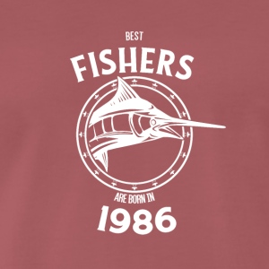 Present for fishers born in 1986 - Men's Premium T-Shirt