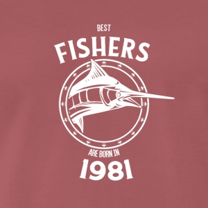Present for fishers born in 1981 - Men's Premium T-Shirt
