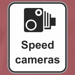 Road sign Speed cameras - Men's Premium T-Shirt